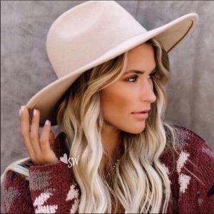 Boho Beige Cowgirl Chic Wool Hat, Cowboy